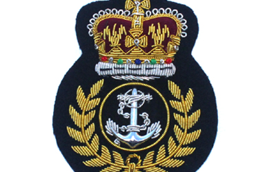 British Royal Navy Cap Bullion Badge