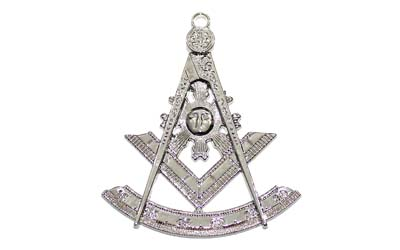 Masonic Silver Regalia Collar Jewel - Past Master silver plated