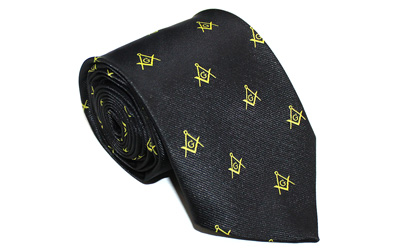 Masonic Craft Silk Tie with Embroided Square Compass & G | Msasons Tie