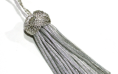 Silver Bullion Fringe Tassels Decoration Fringe Bullion Metallic Tassel