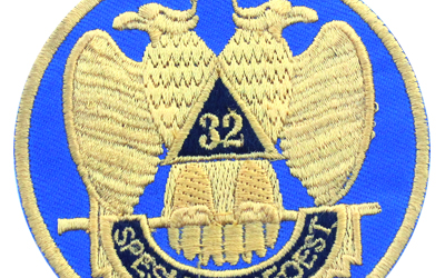 Masonic Machine Embroidered Patch 32nd Degree