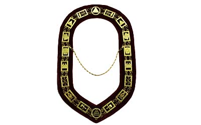 Masonic Royal Arch Chain Collar golden Plated