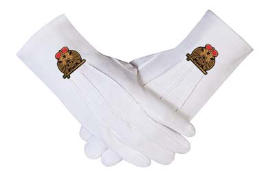 Wholesale Masonic 33rd Degree Cotton Gloves