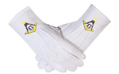 Masonic Gloves - Freemason Gloves