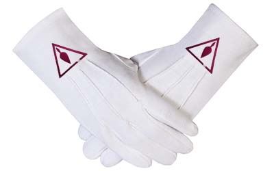 Masonic Royal & Select Masters Gloves