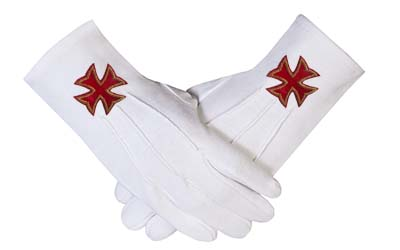 Masonic Regalia Gloves for Mason, Masonic Gloves