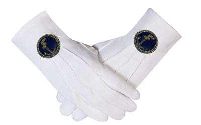 MASON MASONIC TUBAL CAIN GLOVES-NEW