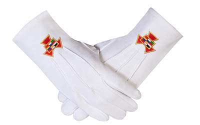 Masons Masonic regalia Gloves Past High Priest PHP Embroidery