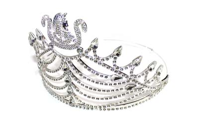 Masonic Ceremony Crown Silver TONE with Rhinestones Adjustable CROWN