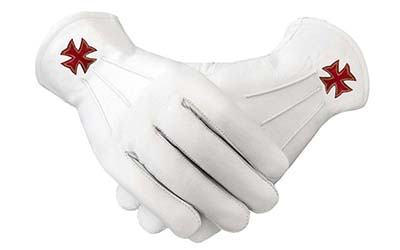 Masonic Regalia White Soft Leather gloves