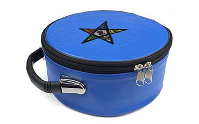 Masonic Regalia Freemason Square Compass and G Blue Cap Case