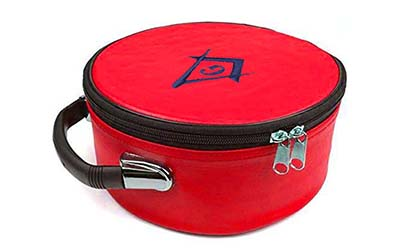 Masonic Regalia Freemason Masonic Red Cap Case
