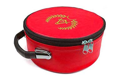 Masonic Regalia Grand Lodge Embroidered Red Cap Case