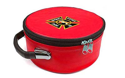 Masonic Regalia Knight Templar Embroidered Red Cap Case