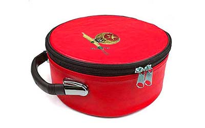 Masonic Regalia Shriner Emblem Embroidered Red Cap Cas