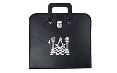 Masonic Apron Case with Printed Pavement Pillars Logo