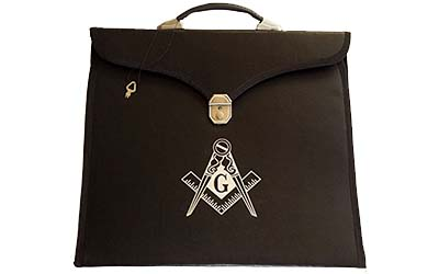 Masonic Regalia Aprons File Case with Hard Handle for MM/WM Apron in Briefcase Style