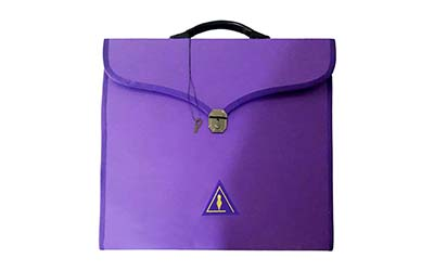 Wholesale Masonic Cryptic Purple MM/WM and Provincial Full Dress Cases with hard handle