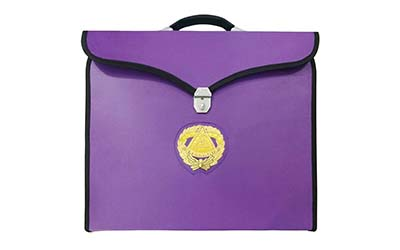 Wholesale Masonic MM/WM and Provincial Full Dress Grand Master Purple Cases with hard handle