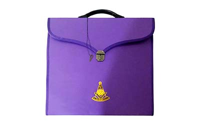 Wholesale Masonic MM/WM and Provincial Full Dress Purple Cases with hard handle