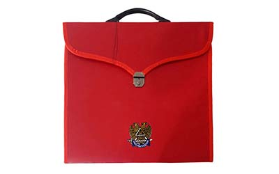 Masonic MM/WM Full Dress Scottish Rite Red File Cases with hard handle