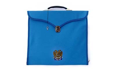 Masonic Regalia Scottish Rite Provincial Full Dress Apron File Cases with Hard Handle