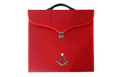 Masonic Square Compass Red File Cases with hard handle