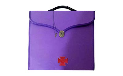 Masonic Knight Templar File Cases Purple with hard handle