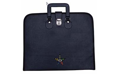 Masonic Regalia Order of Eastern Star OES Black File Cases with hard handle