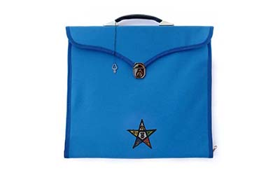 Masonic Regalia OES MM/MW and Provincial Blue File Cases with hard handle