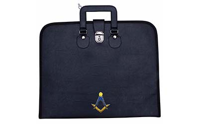 Masonic Regalia Square Compass Embroidered MM/MW File Cases with hard handle