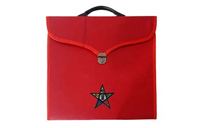 Masonic OES Embroidered Provincial and MM/MW File Cases with hard handle