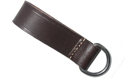 WW1 WW2 Dark Brown Belt Loop Strap d-ring
