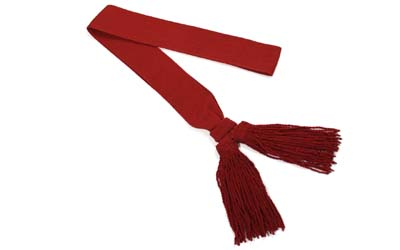 Warrant Officer Crimson Sash