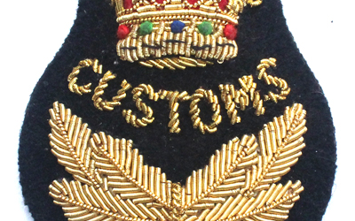 Customs Cap Bullion Badge