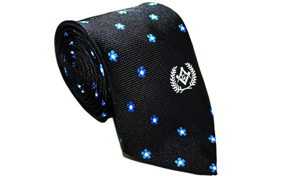 Forget Me Not Necktie by Masonic