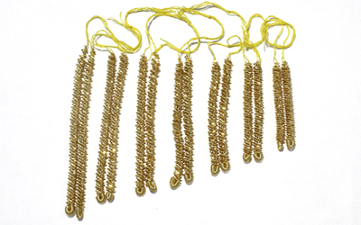 Gold Bullion Wire Caterpillar Fringe Supplier